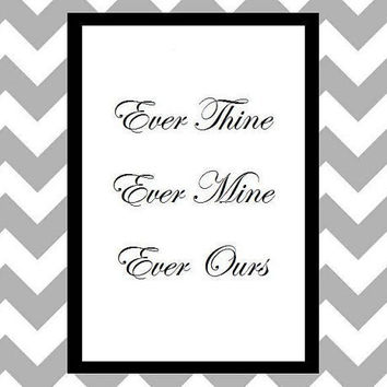 Ever Ours - Quote Art Print by prettypetalspaper on Etsy