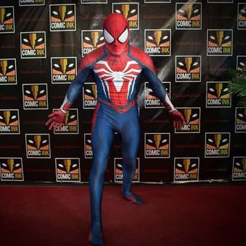 NEW PS4 Insomniac spiderman cosplay 3D Print Spandex Games zentai bodysuit Costume Halloween amazing Spiderman Homecoming
