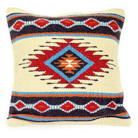 NATIVE AMERICAN GEOMETRIC ACCENT PILLOW