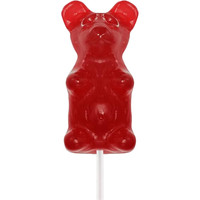 Giant Gummy Bear on a Stick  - Cherry