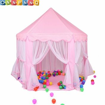 Portable Princess Castle Play Toy Tent Children Activity Fairy House kids  Indoor Outdoor Playhouse Beach Tent Baby playing Toy