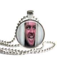 The Shining Necklace Here's Johnny! Jack Nicholson as Jack Torrance Silver Plated Picture Pendant