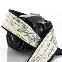 267  Old Script Camera Strap, dSLR, SLR or Mirrorless