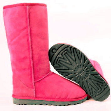 """UGG"" Women Fashion Wool Snow Boots simple high boots Roses"