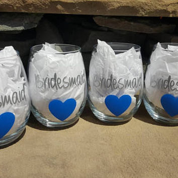 Bridesmaid Wine Glass, Will You Be My Bridesmaid Wine Glass, Bridesmaid Wine Glass, Bridesmaid Gift
