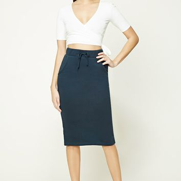 French Terry Midi Skirt
