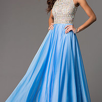 High Neck Long Prom Dress by Tiffany