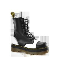Dr Martens CRAZY BOMB BLACK+WHITE SMOOTH - Doc Martens Boots and Shoes