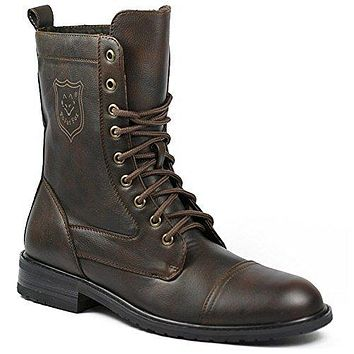 Men's MPX-801026 Lace Up Military Combat Work Desert Ankle Boots