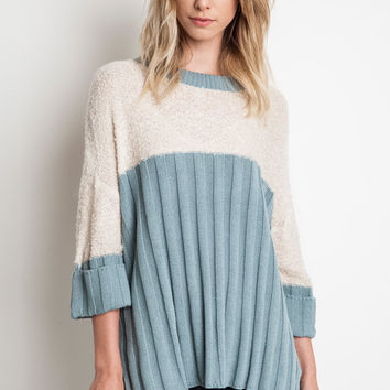 """Cassie"" Colorblock Sweater, 2 colors"
