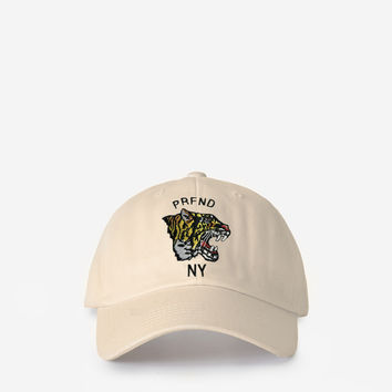 Tiger Face NY Club Cap in Bone