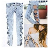 Bows  On My sides  Jeans | Appealing Boutique