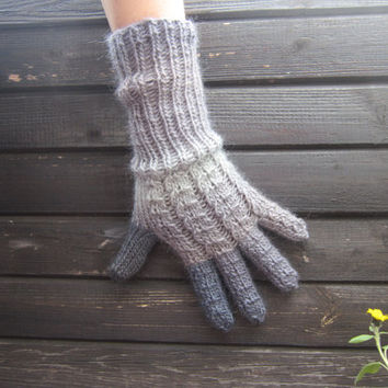 Not Exactly 50 Shades of Grey Multicolor Handknitted Gloves Wool Winter Unisex Accessories Christmas Giftdesigned by dodofit on Etsy