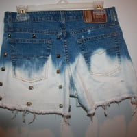 High-Waisted studded ombre shorts Size 3