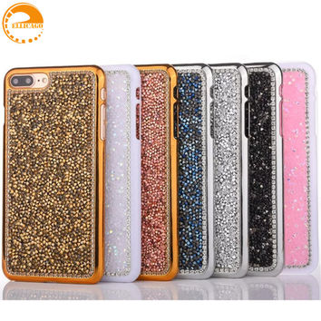 Luxury 3D Bling Crystal Rhinestone Case for iphone 6/6s 6/6s 7 plus Phone Case for iphone 5 5s Accessories Hard Back Cover capa
