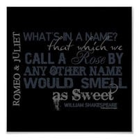 Romeo & Juliet Name Quote Poster from Zazzle.com