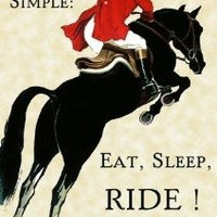 "Life is Simple : Eat , Sleep, Ride ! Horse Jumping Equestrian Event 12"" X 16"" Image Size Vintage Poster Reproduction, We Have Other Sizes Available on Amazon"