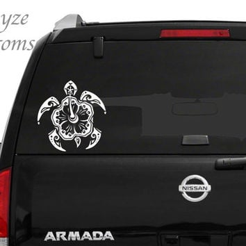 Hawaiian Turtle Car/Computer vinyl decal / Please put color choice in note to seller.