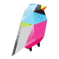 Bright Metallic Foil Bird Temporary Tattoo