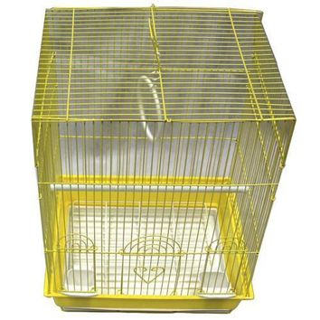 Iconic Pet - Flat Top Bird Cage - Small - Yellow
