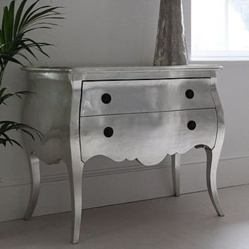 demelza silver french chest of drawers by out there interiors | notonthehighstreet.com