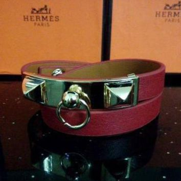 CREYUP0 Hermes Women Fashion Leather Bracelet Jewelry-8