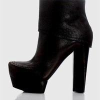 Costume National Nicolita Genuine Leather Platform Boots- Made in Italy - Stuart Weitzman, Gucci, Jimmy Choo and more  Boots - Modnique.com