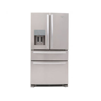 Whirlpool, 24.5 cu. ft. French Door Refrigerator in Monochromatic Stainless Steel, WRX735SDBM at The Home Depot - Mobile