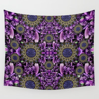 Flowers from paradise in fantasy elegante Wall Tapestry by Pepita Selles