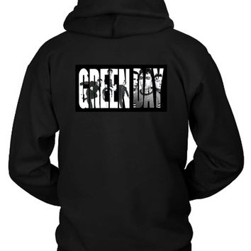 Green Day Facebook Cover Title Hoodie Two Sided