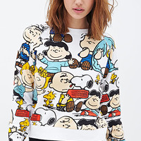 FOREVER 21 The Peanuts Sweatshirt White/Multi