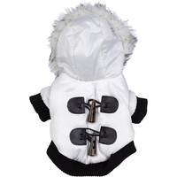 Pet Life Winter White Snow Fashion Parka for Dogs, Medium | Petco Store