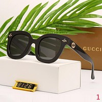 Gucci Popular Summer Women Cute Bee Transparent Sunglasses Sun Shades Eyeglasses Glasses Black I12603-1