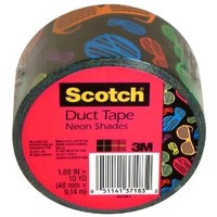 Scotch Duct Tape, Neon Shades, 1.88-Inch by 10-Yard