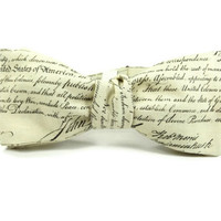The Declaration of Independence, mens bowtie, american bowtie, republican bowtie, political bowtie, conservative bowtie, teacher bowtie