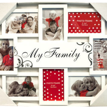 My Family White Collage Photo Frame Case Pack 6