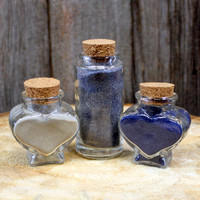 Unity Sand and Small Glass Bottles for Wedding - Sand Unity Ceremony