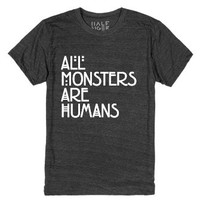 All Monsters Are Human-Unisex Heather Onyx T-Shirt