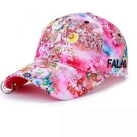 Shade Hat Brand 2017 Fashion Floral Baseball Cap For Women Summer Beach Baseball Hat Fashion Sun Hat