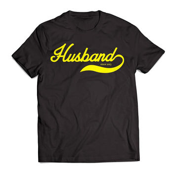 Personalized Cute Wedding Gift Husband Since Any Year Clothing T Shirt Men