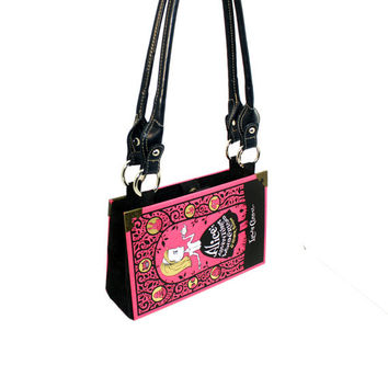 Alice in Wonderland Book Purse - Decadence Bookpurse handbag or pink clutch -