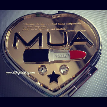 MUA CUSTOM lipstick name and quote compact mirror by didepux
