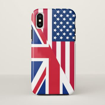 American and Union Jack Flag Tough iPhone X Case
