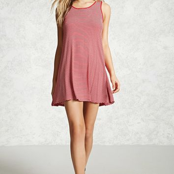 Striped Crisscross Mini Dress