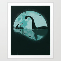 Encounter Under a Blue Moon Art Print by Jay Fleck