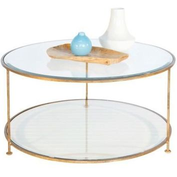 Rollo Gold Leaf Round Coffee Table