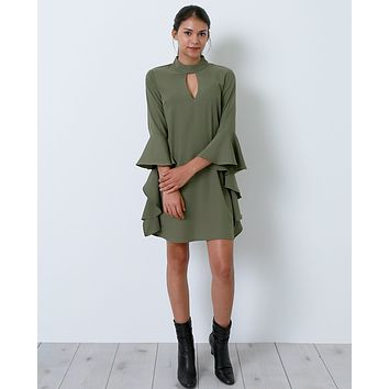 Crush On You Shift Dress - Olive