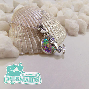 Iridescent mermaid scale necklace, shimmery mermaid scale necklaces, shiny mermaid necklace, holographic mermaid scales, holo mermaid tail