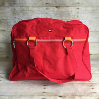Retro Tommy Hilfiger Travel Bag - Red Bag