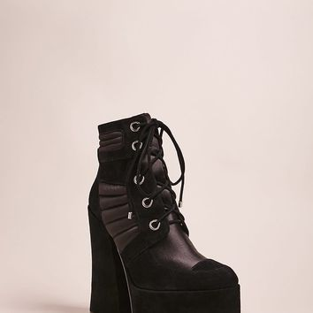 Shellys London Lace-Up Suede Platform Boots
